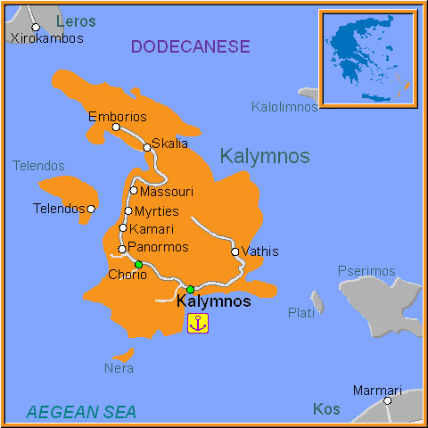 Kalymnos Map Kalymnos Island Greece